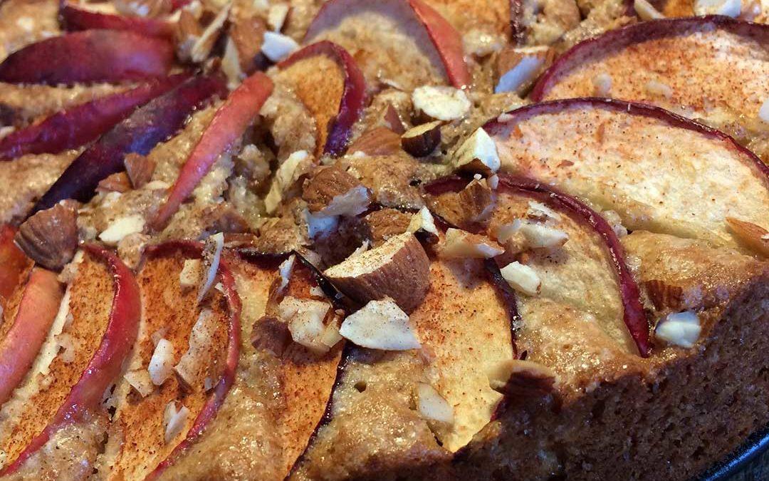 Æbletærte med ingefær og mandler